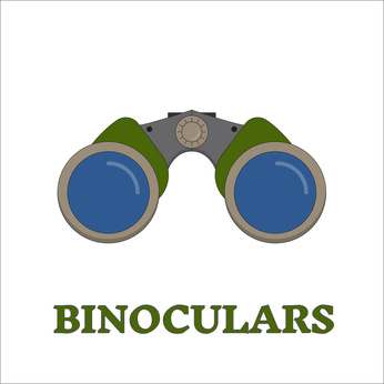 Birdwatching Travel Binocular Outline Icon