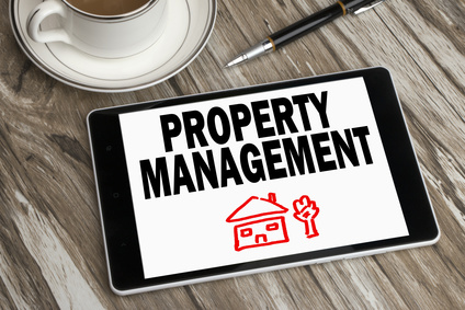 property management displayed on tablet pc