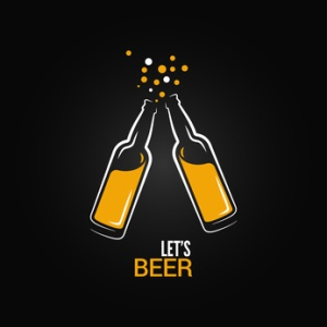 beer bottle drink splash design background