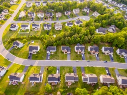 Aerial view of a Cookie Cutter Neighborhood