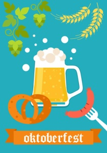 Oktoberfest celebration vector poster