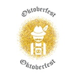 Symbol of Oktoberfest - German traditional suit and hat