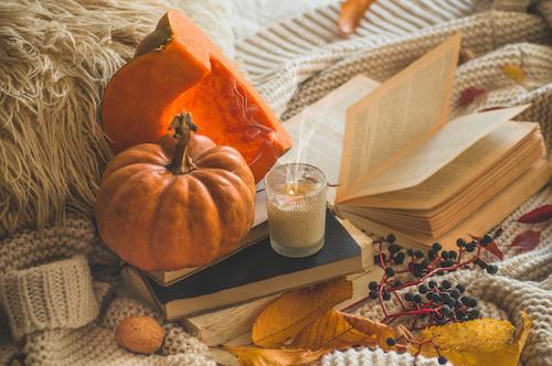 Pumpkin and fall decorations Lake Arrowhead